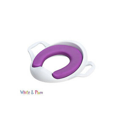 The Neat Nursery - Comfy Toilet Training Seat with Handles - Purple & White