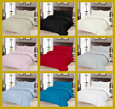 Thermal Flannelette 100% Soft Brushed Cotton Fitted Bed Sheet Set Pillow Cases