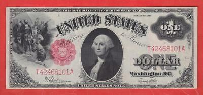 $1 1917 LARGE BEAUTIFUL UNC - NO FOLDS LEGALTENDER United States Note!!