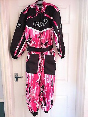 Wulfsport CHILDRENS Kids MOTOCROSS Camo RACE Suit - Pink.  Size XL.  Age 11-12
