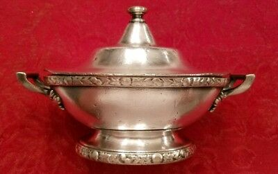 """Hotel Astor NYC Silver 6"""" Bowl with Lid by R. Wallace Silver Co"""