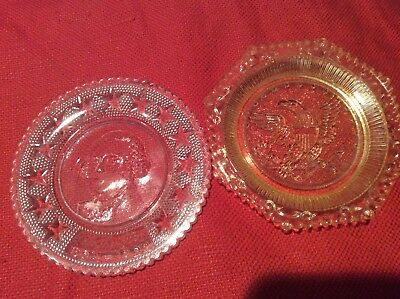 2 Vintage Glass Cup Plates or Butter Pats