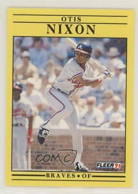 1999 FLEER TRADITION #453 Otis Nixon Atlanta Braves Baseball Card