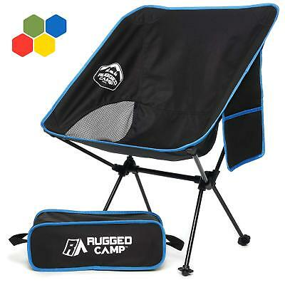 Rugged Camp Versalite Portable Folding Chair - for Camping, Beach, Sporting Even