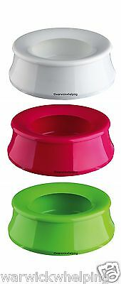 Swobby Travel Dog Bowl prevent spills pink green white non spill Water Seconds*