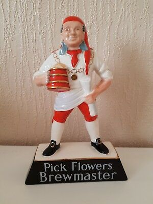 Carlton Ware Vintage  Pick Flowers Brewmaster Beer Advertising Figure VGC