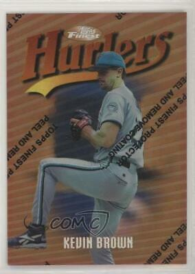 1997 Topps Finest Refractor #25 Kevin Brown Miami Marlins Baseball Card