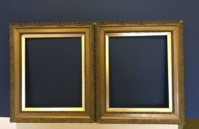 Antique picture frames. Pair of early 20c picture frames.