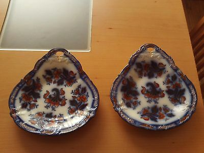 Antique Oriental Ceramic Charger / Wall Plate X2