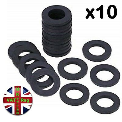 """Rubber shower pipe hose washers head bath 1/2"""" 0.5"""" inlet seal plumbing tap ring"""