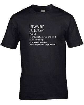 Lawyer Definition Mens T-Shirt Solicitor Law Gift Idea Work Job Occupation Funny