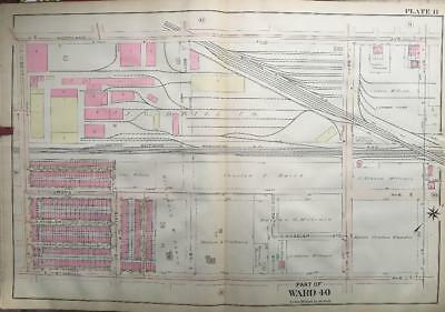 1910 S.w. Philadelphia Pa E Zekiel Baptist Church J.g. Brill Company Atlas Map