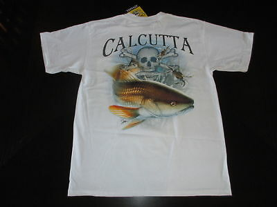 Short Slv NEW Calcutta T-Shirt WHITE It/'s All About The Hoo Sz 2XLg