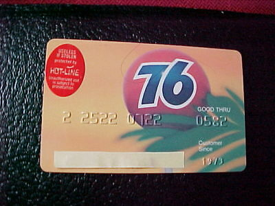 vintage 76 oil company credit card. expired 05/82.