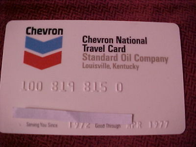 vintage Chevron national travel credit card. expired 04/77. nice condition.