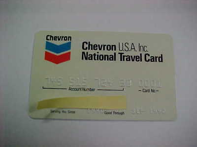 vintage credit card. chevron USA. expired 09/90.