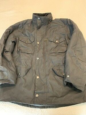 Barbour 'Sapper' Weatherproof Waxed Relaxed Fit Jacket, Black, Large $429 Retail