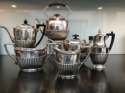 Antique English Silver Tea Service Queen Anne Style