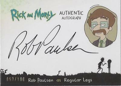 "Rick and Morty - RP-R Rob Paulsen ""Regular Legs"" Autograph Card #053/100"