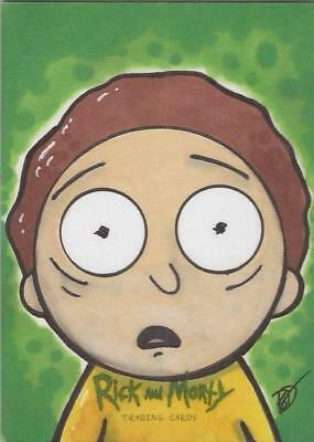 """Rick and Morty - Brian DeGuire """"Morty"""" Sketch Card"""