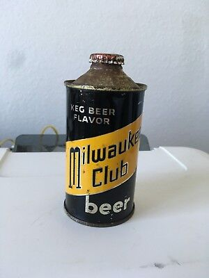Milwaukee Club Beer cone top beer can, Milwaukee, WI