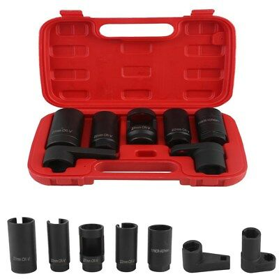 7 In 1 Car Oxygen Sensor Socket Tool O2 Thread Chaser Wrench Vacuum Repair Kit