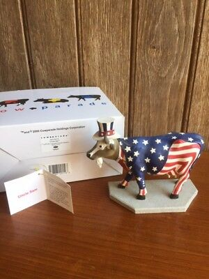 Cow Parade Retired Chicago Original 9 Uncle Sam