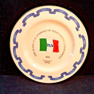 Pickard China Danbury Mint, Flags Of America Plate, The Alamo Flag, Texas