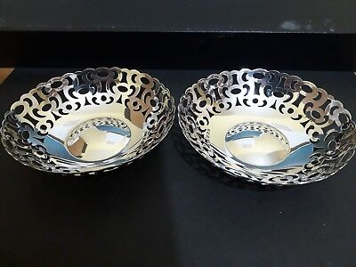 A pair of Bon Bon dishes. Birmingham 1919. A&J Zimmerman Ltd.
