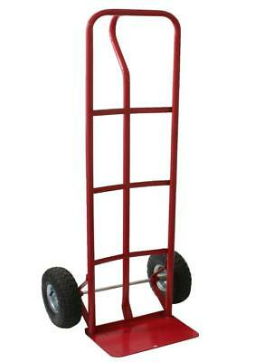 New Red Heavy Duty Sack Trolley Truck Steel Garden Goods Wheel Barrow