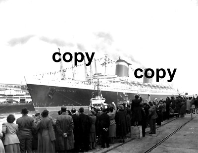 Copy Of The Of Ss United States Arrives In Southampon 1952 Maiden Voyage