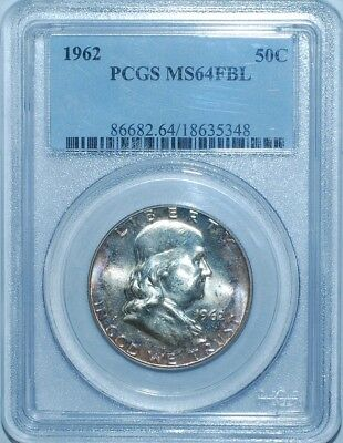 1962 PCGS MS64FBL Full Bell Lines Franklin Half Dollar