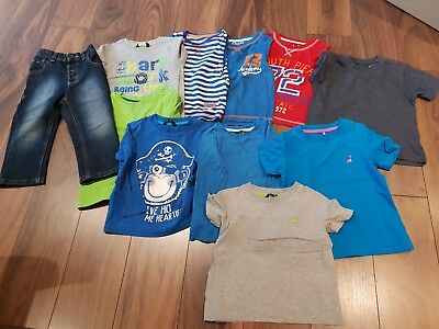 Childs Boys Vests Jeans T Shirts Short Long Sleeve  Bundle Aged 2-3 years