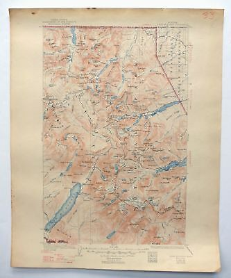 Chief Mountain Montana Vintage Original USGS Topo Map 1904 Glacier National Park
