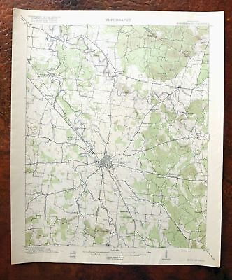 1916 Murfreesboro Tennessee Antique USGS Topo Map Lascassas Topographical