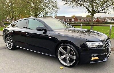 Audi A5 2.0 Tdi Diesel S Line Manual Black Edition Sportback 2013 63 Facelift