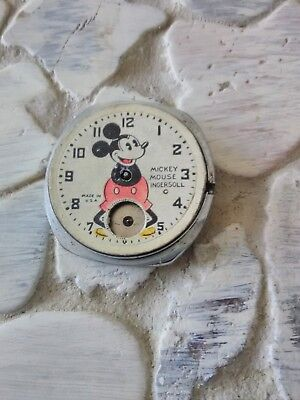 Vintage/Antique 1930s Disney Mickey Mouse Ingersoll Wrist Watch Round Face/Dial!