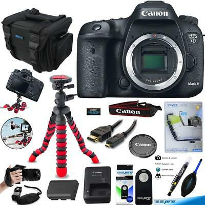 Canon EOS 7D Mark II Digital SLR Camera (Body) + Pixibytes Accessories Bundle