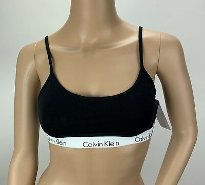 17a8383e79a CALVIN KLEIN CK One Cotton Unlined Bralette Bra QF1536 Black Small ...