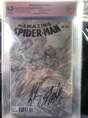 amazing spiderman 1 Cgc 8.5 Signed Stan Lee And Alex Ross