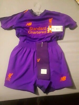 Liverpool away shirt, shorts and socks 2018/2019 age 6-7