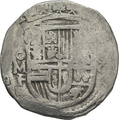 LANZ SPAIN HISPANIA FELIPE PHILIP III or IV 8 REALES COB MEXICO MF AR ±NER953