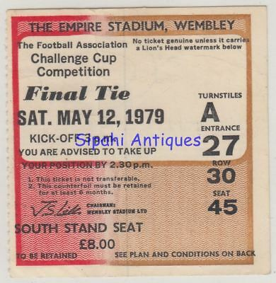 Arsenal - Manchester United Fa Cup Final Match Soccer Football Ticket