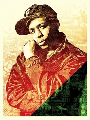 Obey CHUCK D COLLAGE NUMBERED SCREEN PRINT #/450 Signed By Shepard Fairey