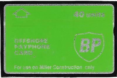 Cur018 Bp Miller Construction Only Oil Rig Phonecard
