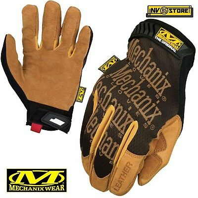 Guanti MECHANIX Leather Original Tactical Gloves Softair Security Antiscivolo