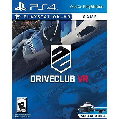 DriveClub VR (PlayStation 4, PSVR) BRAND NEW & FACTORY SEALED!!!! drive club ps4