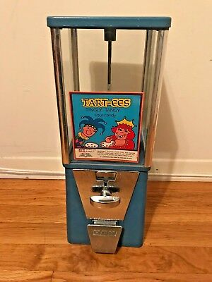 vintage Oak Vista 10 cent candy/ small gumball vending machine with glass panels