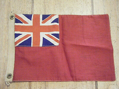 "Vintage 12"" Silk And Cotton Handmade Small Red Ensign British English Flag"