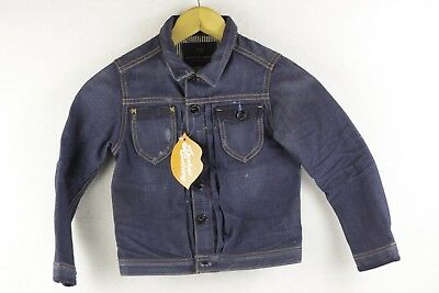 Boys SCOTCH SHRUNK Denim Jacket Coat DISTRESSED Blue Age 6 VERY GOOD UP2RL
